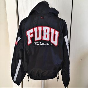Fubu Sport Men Jacket Spellout XL Black Red 05